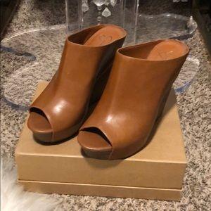 Jessica Simpson Lovell platform wedge sandal sz9.5